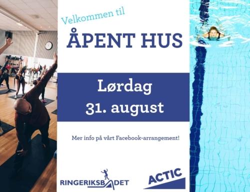Aktivitetsdag på Ringeriksbadet og åpent hus på Actic!
