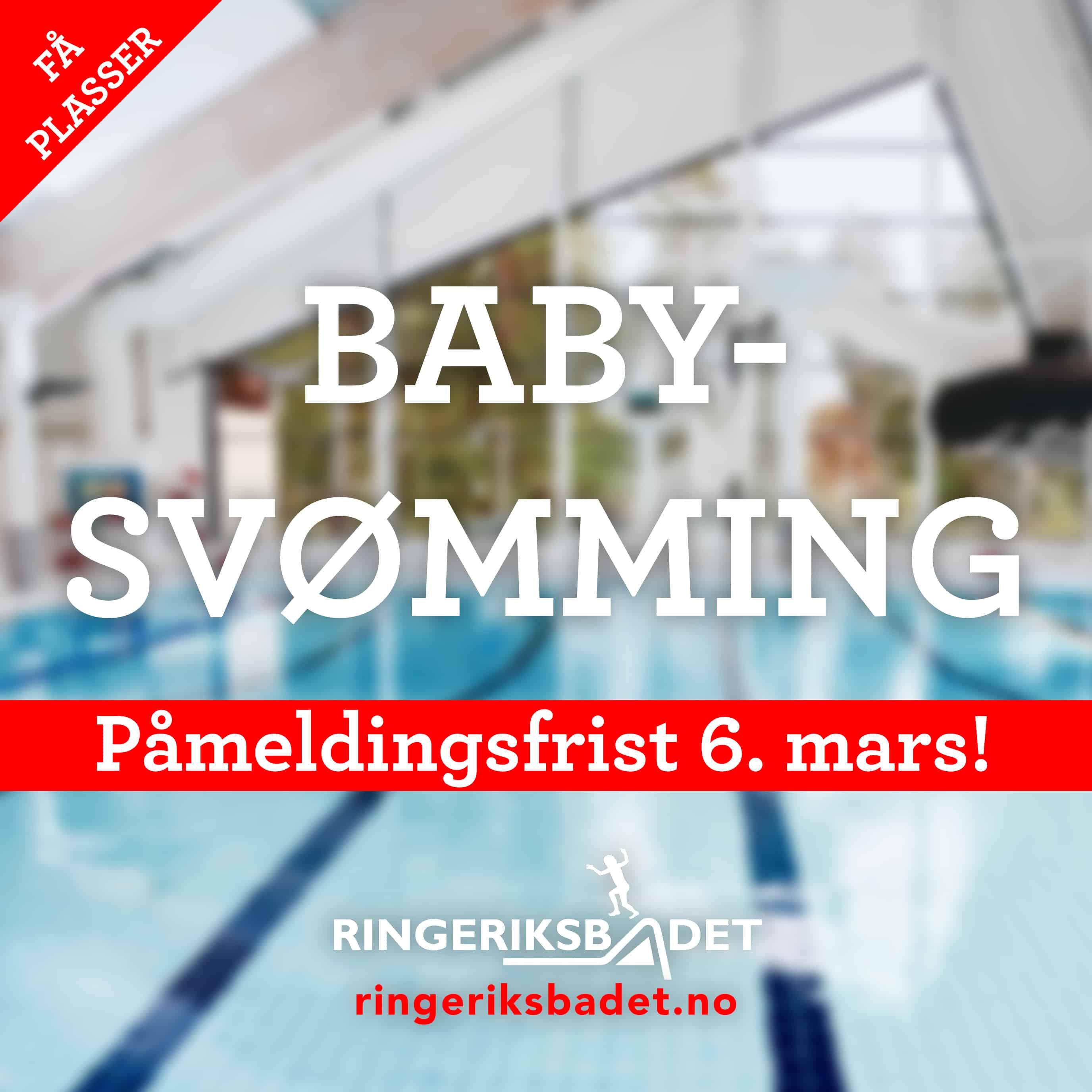 Noen ledige plasser igjen på babysvømming!