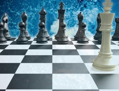 Sjakkbesøk på badedagen!