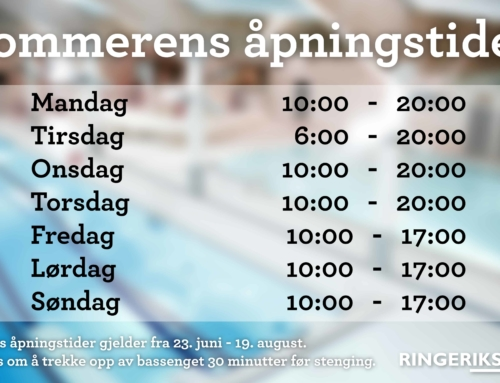 Sommeråpningstider 2018